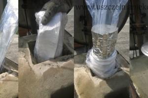 Uszczelnianie komina gazowego pod ciśnieniem rękawem aluminiowym alufol.jpg